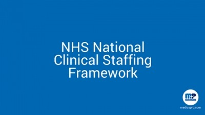MedicsPro has been awarded a place on the new NHS National Clinical Staffing Framework